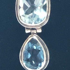 Janice Girardi Designs Jewelry - Blue Topaz Pendant Necklace Janice Girardi Design